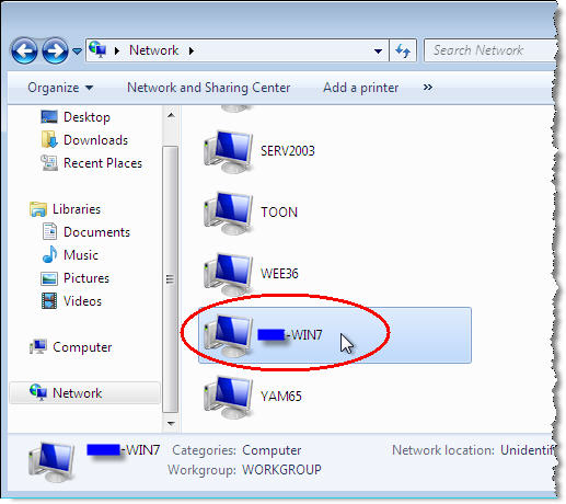 how to share the drive in windows 7